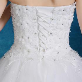 2016新款婚纱礼服新娘简约高腰孕妇抹胸蕾丝绑带婚纱MK04