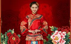 吉祥如意秀禾服 中式结婚礼服 中国嫁衣 真丝织锦