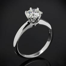 【呓人珠宝】经典六爪简约钻石戒指  可定制
