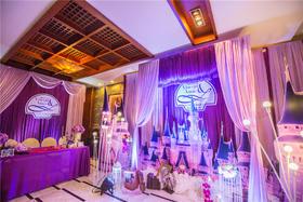 粉紫色魔幻城堡主题婚礼
