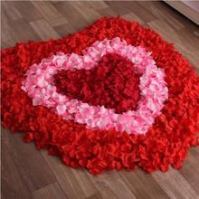 仿真玫瑰花瓣片床撒花结婚场景婚房布置装饰用品手抛花瓣