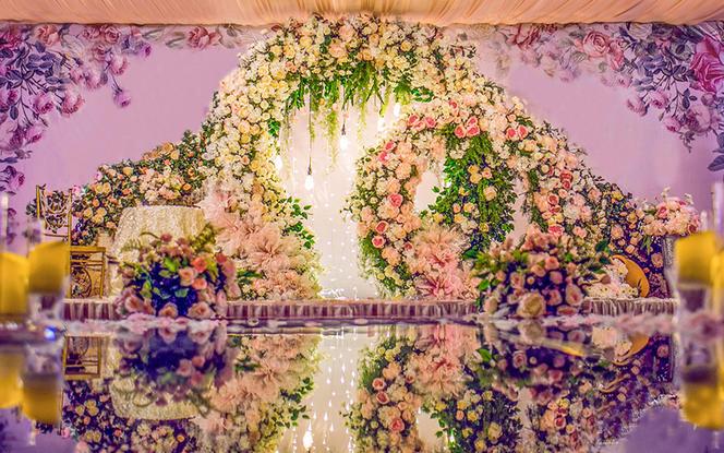 【幸福蜜语婚礼馆】粉色系森系风花园风婚礼《缘》