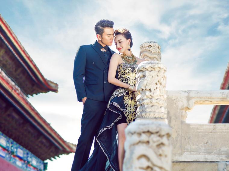 中式婚纱摄影——墨宫金蟠