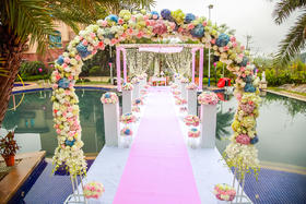 【M.E婚礼婚礼定制】【洛可可·蓝粉色】只为一场梦中的婚礼