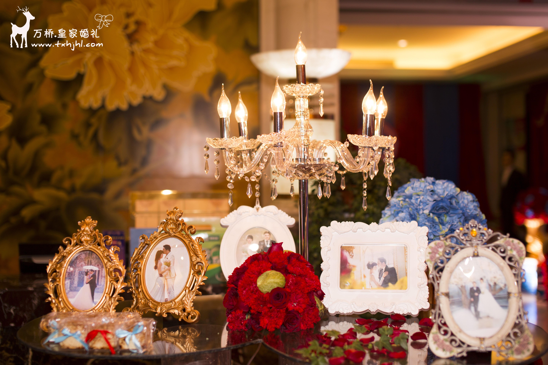 宝蓝色婚礼布置