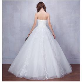 名尚纱新款婚纱韩式抹胸简约婚纱礼服齐地修身孕妇大码韩式一字肩