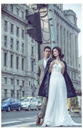 欧式文艺旅行风街景街拍婚纱照