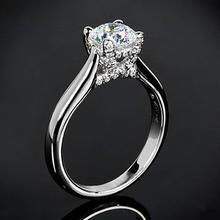 【呓人珠宝】气质款四爪镶钻石戒指
