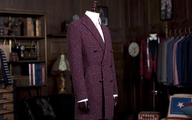 精仿红色羊绒大衣 全方位量身定制