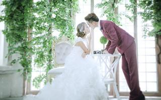 韩式小清新婚纱摄影风——白纱
