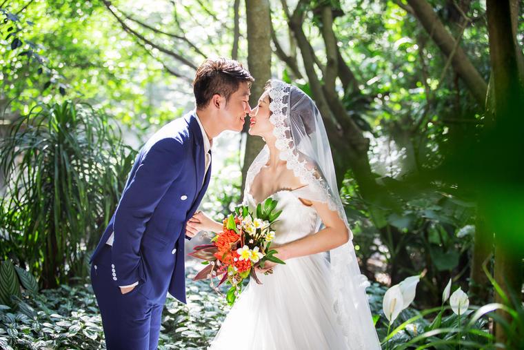 梵岛小清新婚纱客片+绿意盎然