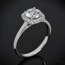 【呓人珠宝】双层立体光环直臂钻石戒指