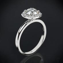 【呓人珠宝】简易光环直臂钻石戒指