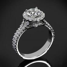 【呓人珠宝】光环双臂豪华镶钻石戒指