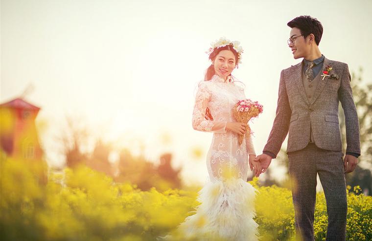 浪漫花海婚纱摄影——爱尔兰的传说,属于我们的秘密