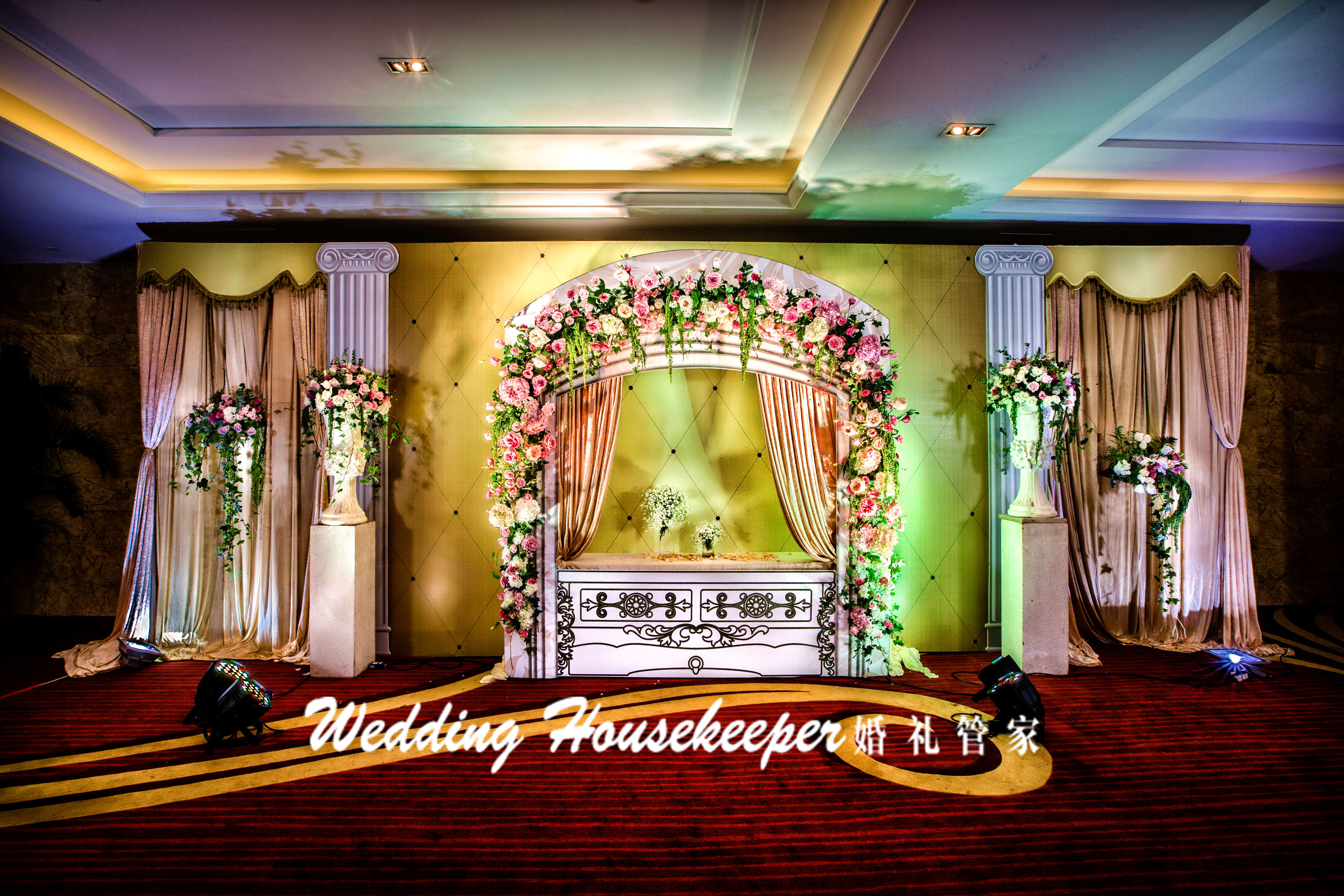 香槟色婚礼布置