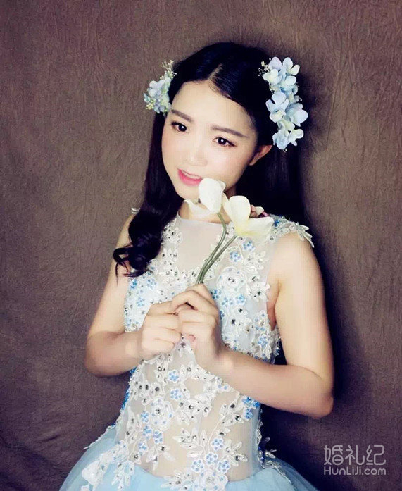圆脸新娘也有春天 最适合圆脸的新娘发型