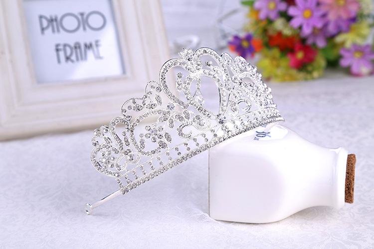 欧式巴洛克皇冠 合金水钻饰品新娘皇冠 国际站热销款新娘头饰
