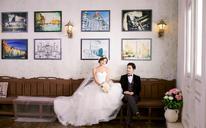 温情脉脉 韩式婚纱照