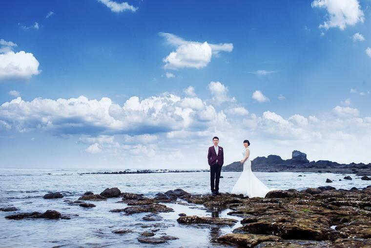 #熙琦婚纱摄影|海景婚纱客照分享#献给蓝彬彬夫妇