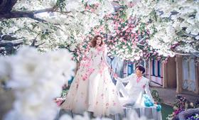 花海浪漫婚纱照——花的承诺