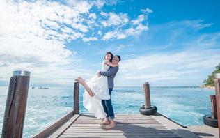 【奢华升级】马来亚庇落日沙滩旅拍婚纱照 3服3造