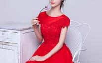 2016新款夏韩式双肩结婚礼服红色显瘦婚礼连衣裙女