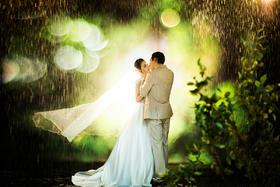 太原纽约婚纱摄影独家5D雨景,雪景