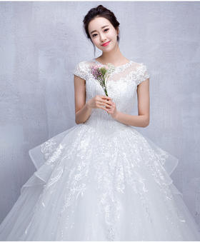 【花茜新娘--韩国甜美性感婚纱】