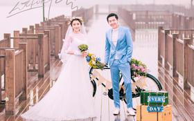 蕾蕾纯色·雨中漫步 韩式婚纱照