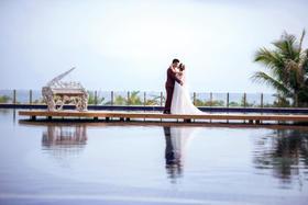 <广州人气外景>十里银滩海湾婚纱客照