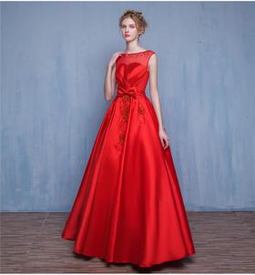 高端红色新娘结婚晚礼服新娘敬酒礼服