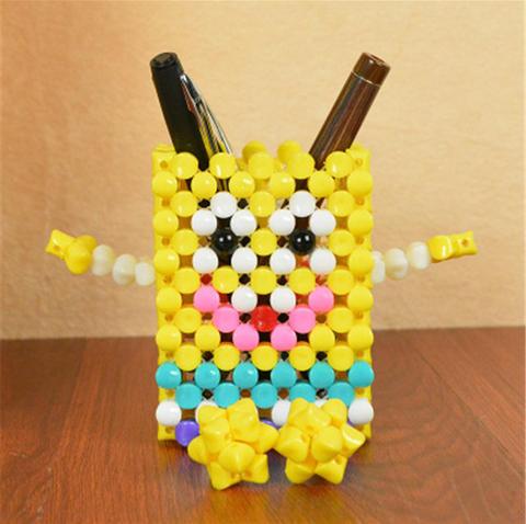 创意亚克力串珠手工编织笔筒