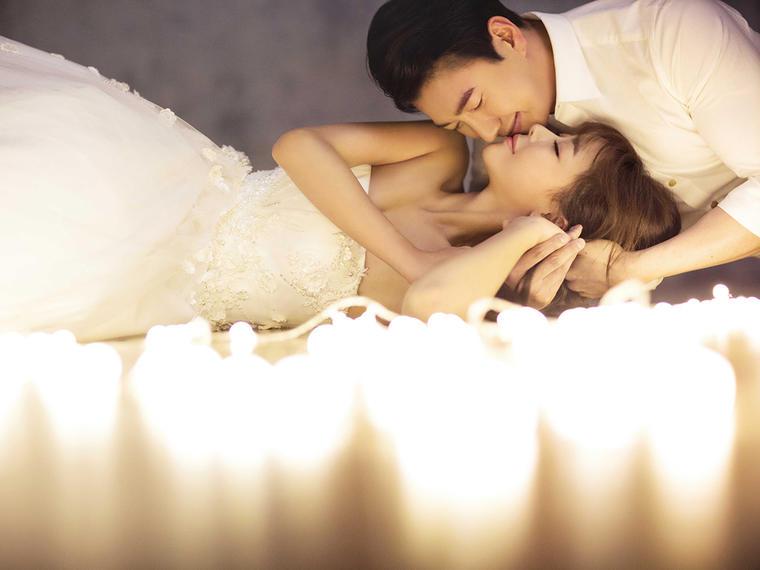 灯火阑珊 夜景婚纱照