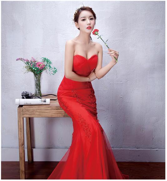 【花茜新娘--高定手工公主裙】