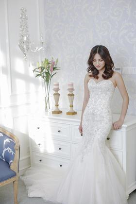 NSN BRIDAL奢华心形胸婚纱