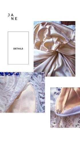 白色蕾丝挂脖新娘礼服裙婚礼长款礼裙敬酒服修身小拖尾露背包邮