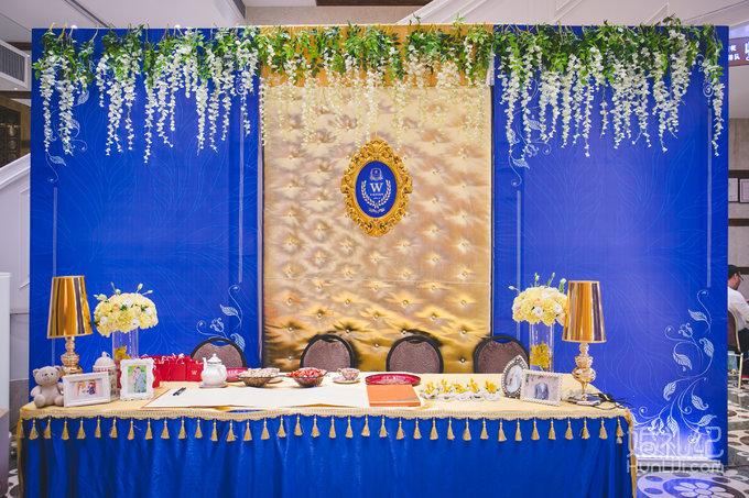 【皇后镇婚礼】蓝色搭配金色的璀璨