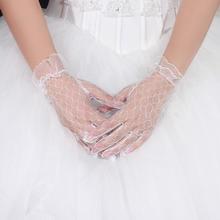 米卡谜卡短款无露指蕾丝花边镂空手套新娘摄影 SHOUT-06