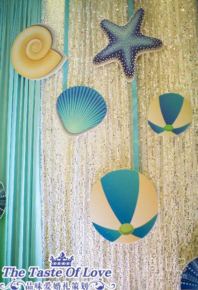 布幔式海洋婚礼