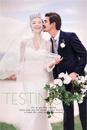幸福依偎+韩式婚纱照