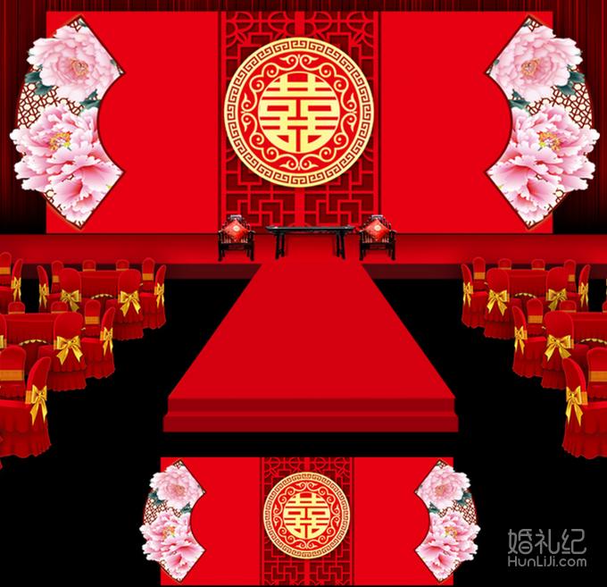 中式婚礼礼服卡通
