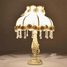新婚庆台灯简约卧室创意欧式结婚礼物红色时尚实用高档婚房床头灯