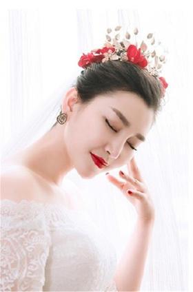 【台湾布蕾丝婚纱】红唇诱人公主裙婚纱