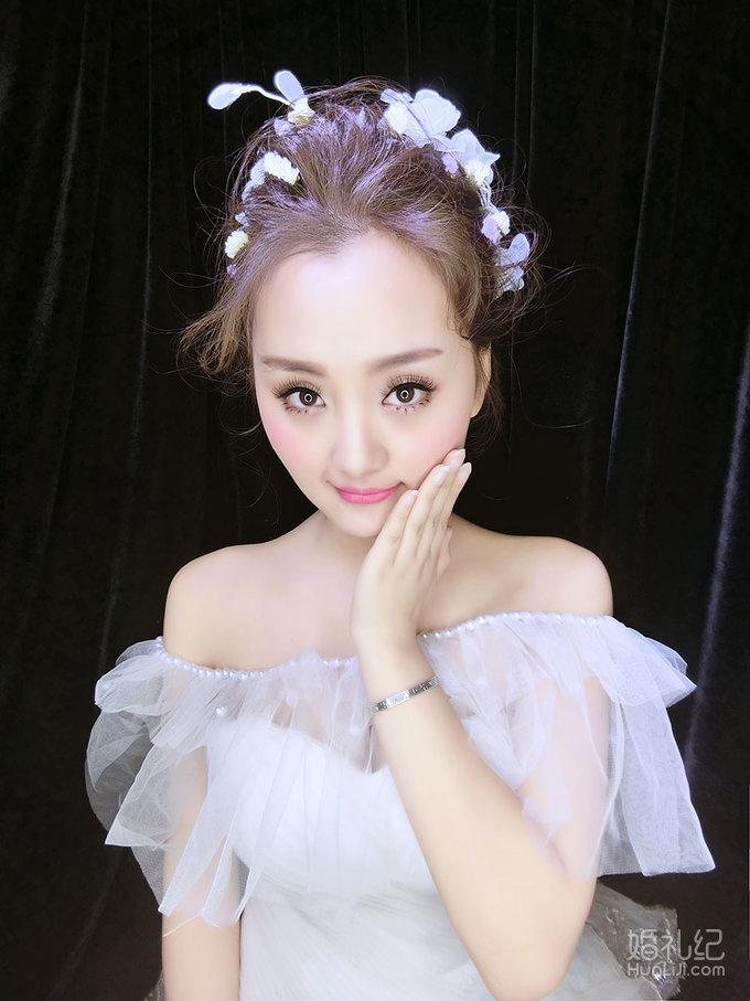 安吉莉娜新娘妆面造型,婚纱礼服设计作品欣赏,婚礼纪