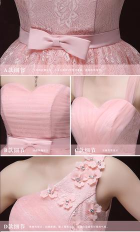 2016新款伴娘礼服短款 夏季姐妹裙显瘦伴娘团礼服 修身小礼