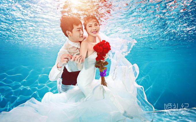 完美水下婚纱照