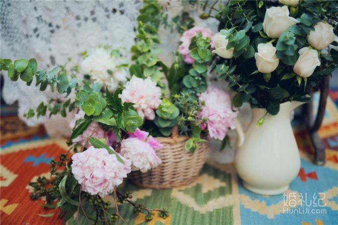 【热卖】复古小清新户外森系婚礼图片