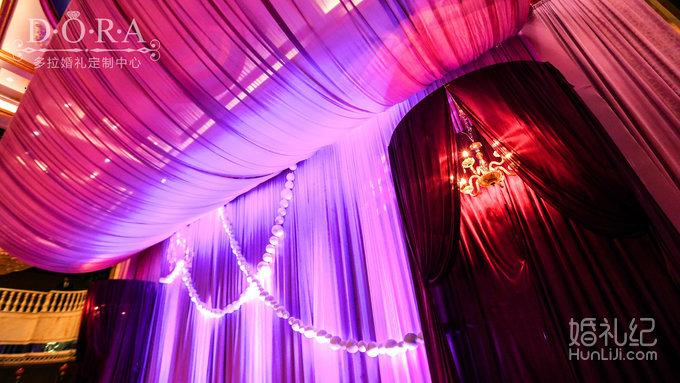 12 婚礼场地:宝安海雅宴会厅 婚礼主题:紫色高档定制 婚礼司仪:师强