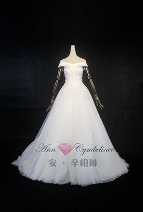 安辛柏琳新款蕾丝典礼纱
